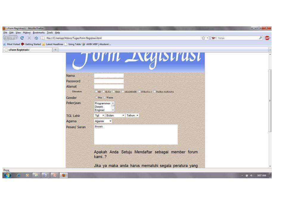 Untuk type password Pass.html Login.php