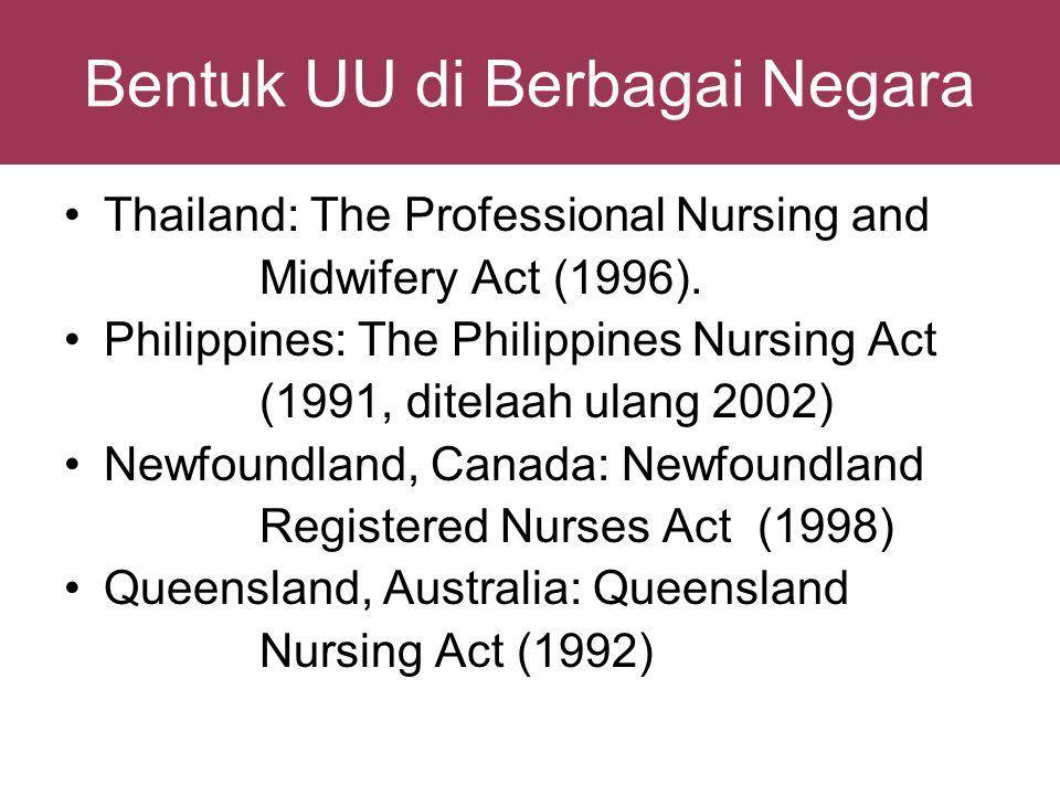 Ancaman Globalisasi: - perawat asing bebas bekerja di Indonesia - perawat Indonesia sulit menangkap peluang UU Keperawatan Indonesia Kompetensi global