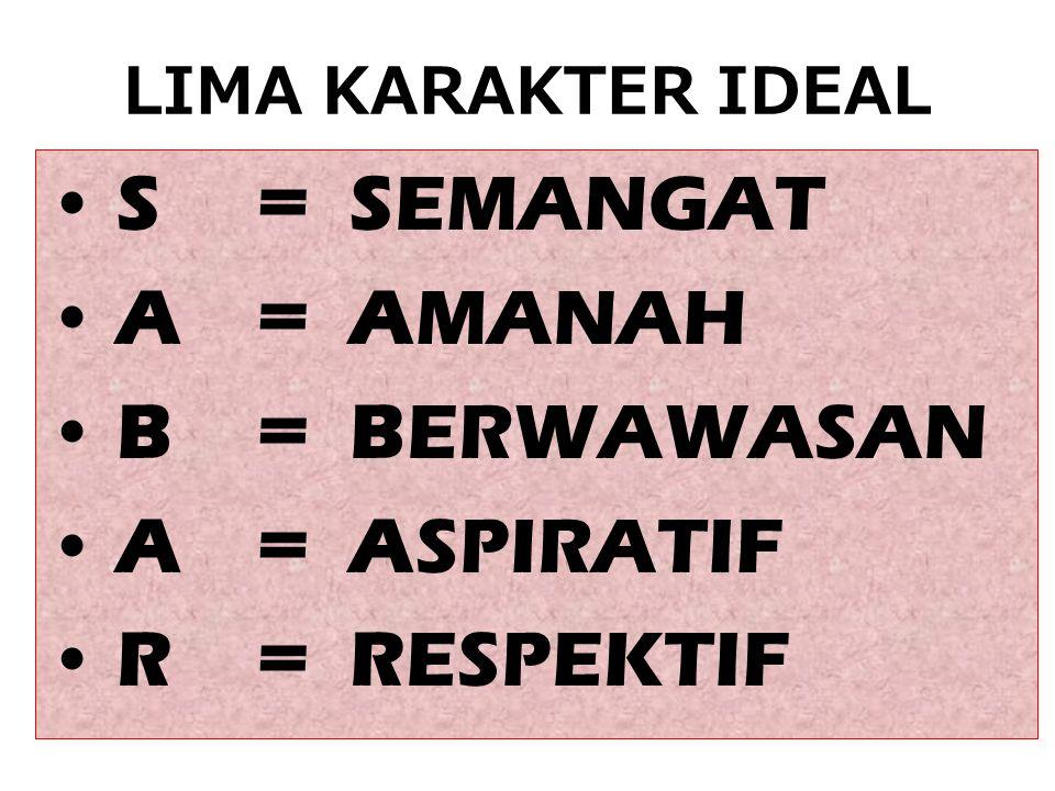 LIMA KARAKTER HARAM •H = HASUT •A = AROGAN •R = REPRESIF •A = ASUSILA •M = MUNAFIK