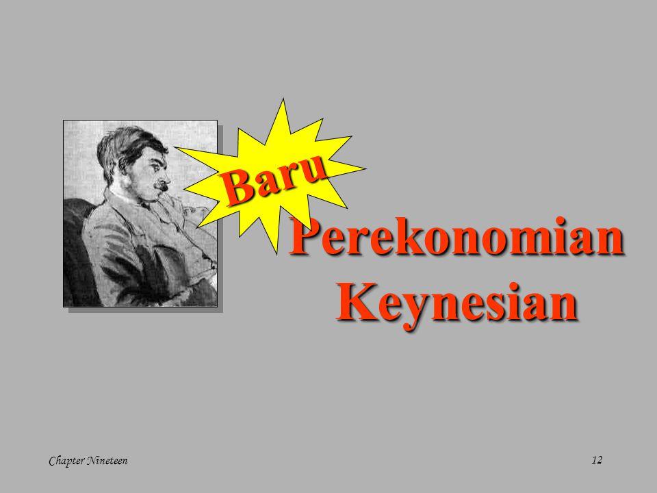 Chapter Nineteen12 PerekonomianKeynesianPerekonomianKeynesian Baru