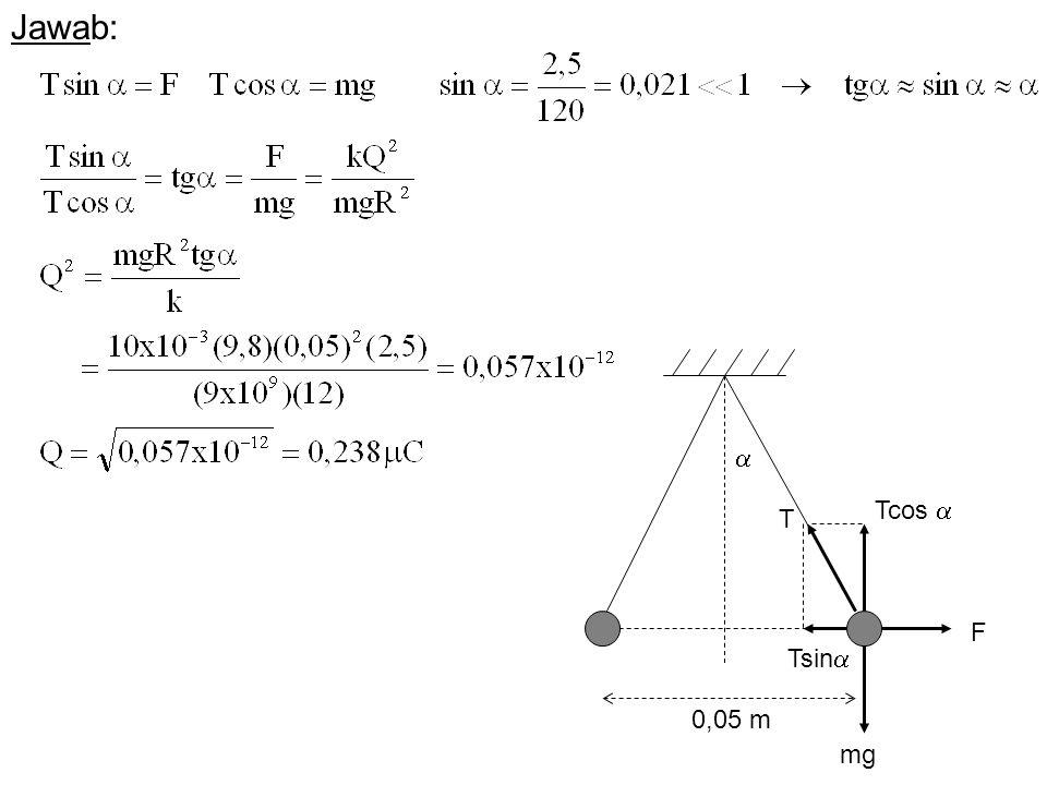 F mg  Jawab: T Tcos  Tsin  0,05 m