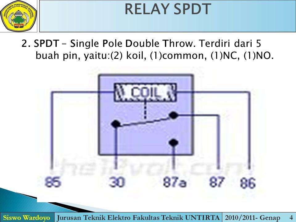 3.DPST - Double Pole Single Throw. Setara dengan 2 buah saklar atau relay SPST.