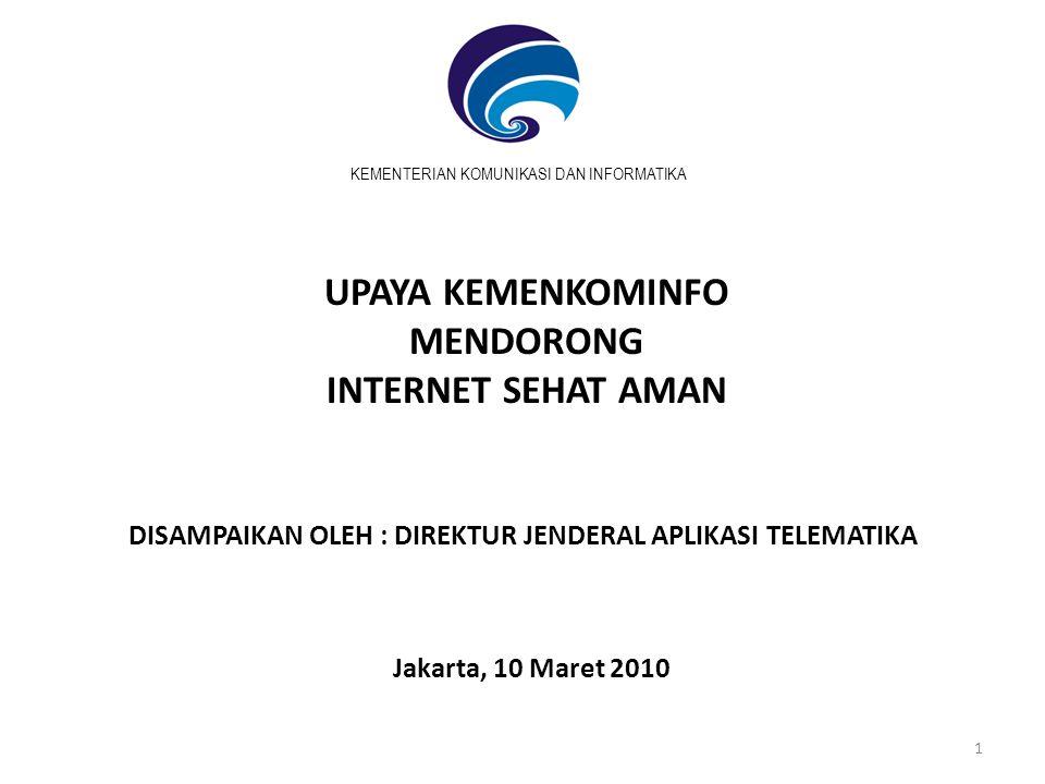 2 Agenda • Data & Fakta Dunia Maya • Manfaat & Dampak Penggunaan Internet • Upaya Pemanfaatan Internet Sehat & Aman