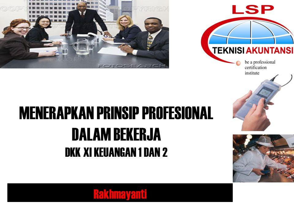 Aspek internal yang mempengaruhi profesi Teknisi Akuntansi 1.Tujuan bekerja, 2.Pemahaman mengenai profesionalisme.