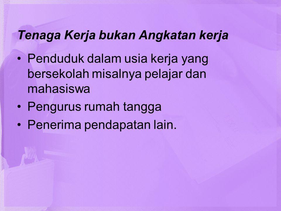 Faktor-faktor tersebut : •Seseorang melanjutkan sekolah sehingga menunda untuk bekerja.