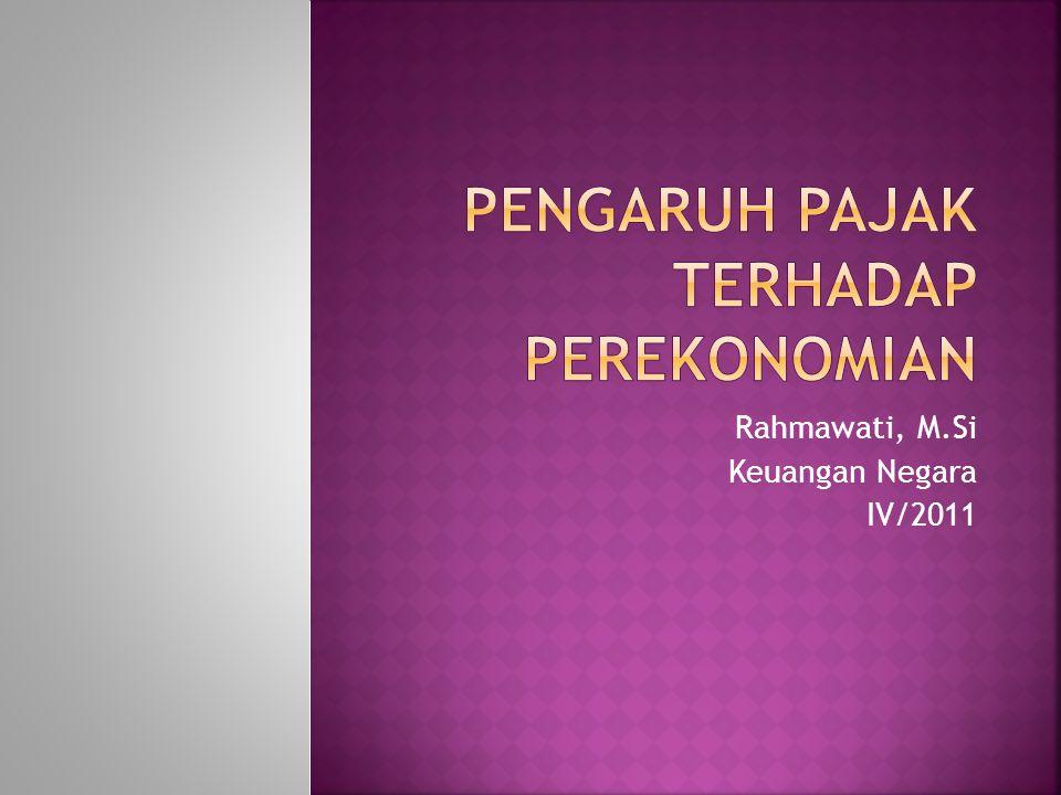  Dibagi 2; 1.Pengaruh pajak terhadap komposisi produksi 2.