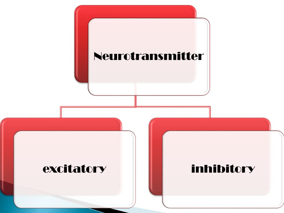 Neurotransmitterexcitatoryinhibitory