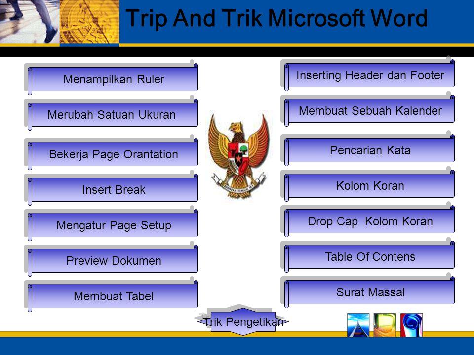 Merubah Satuan Ukuran Mengatur Page Setup Bekerja Page Orantation Insert Break Menampilkan Ruler Trip And Trik Microsoft Word Preview Dokumen Membuat