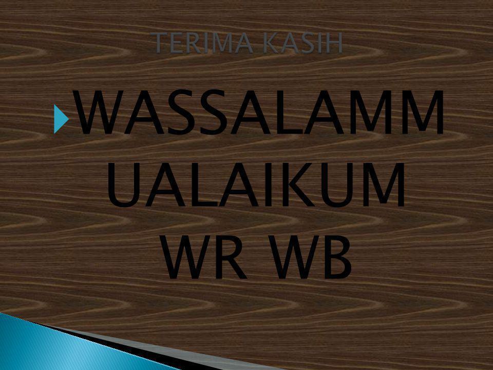  WASSALAMM UALAIKUM WR WB