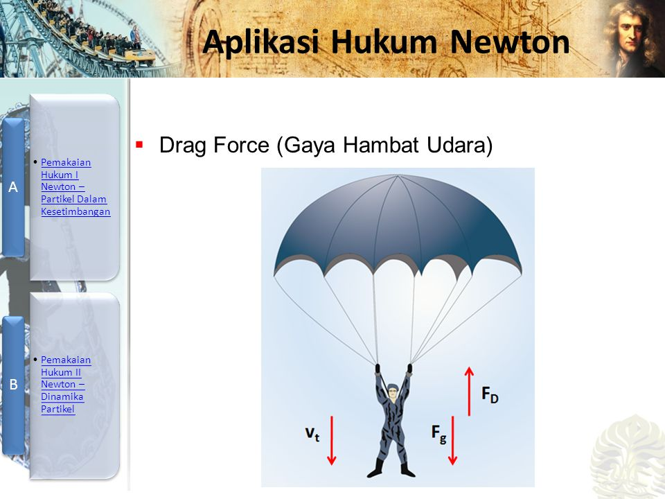 Mesin Kalor, Entropi, dan Hukum 2 Termodinamika Aplikasi Hukum Newton  Drag Force (Gaya Hambat Udara)