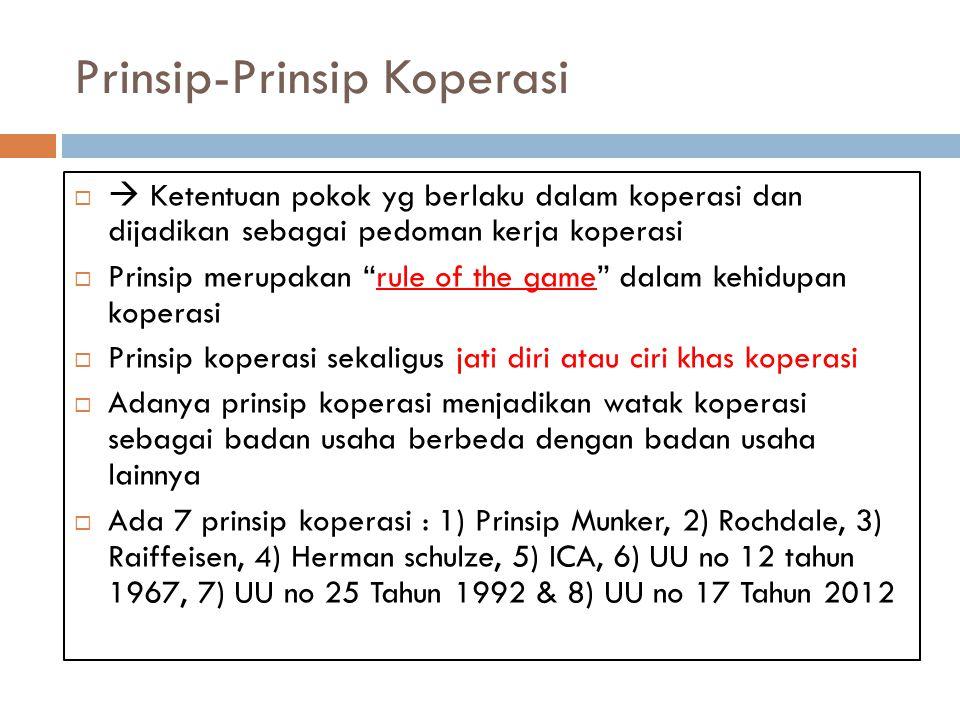 UU no 25 tahun 1992 1.Kenaggotaan bersifat sukarela dan terbuka 2.