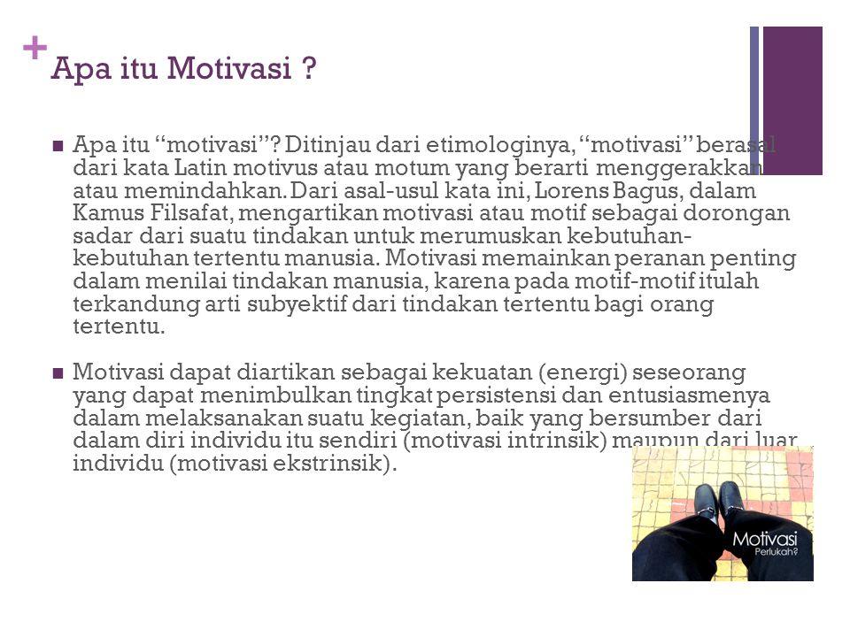 + Apa itu Motivasi . Apa itu motivasi .