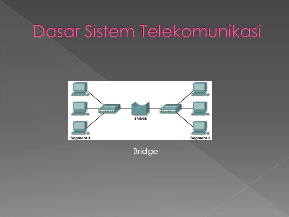 D.Switch Switch bekerja pada lapisan Data Link seperti halnya Bridge.