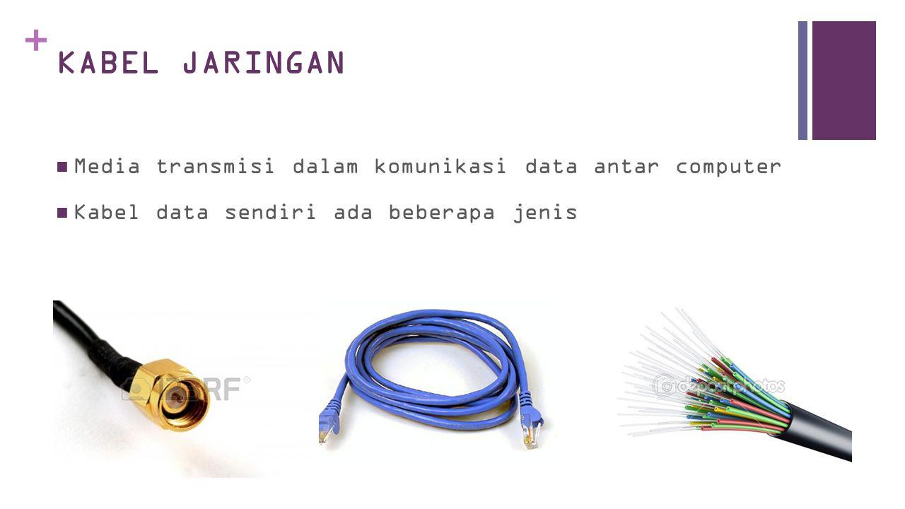 + KABEL JARINGAN  Media transmisi dalam komunikasi data antar computer  Kabel data sendiri ada beberapa jenis
