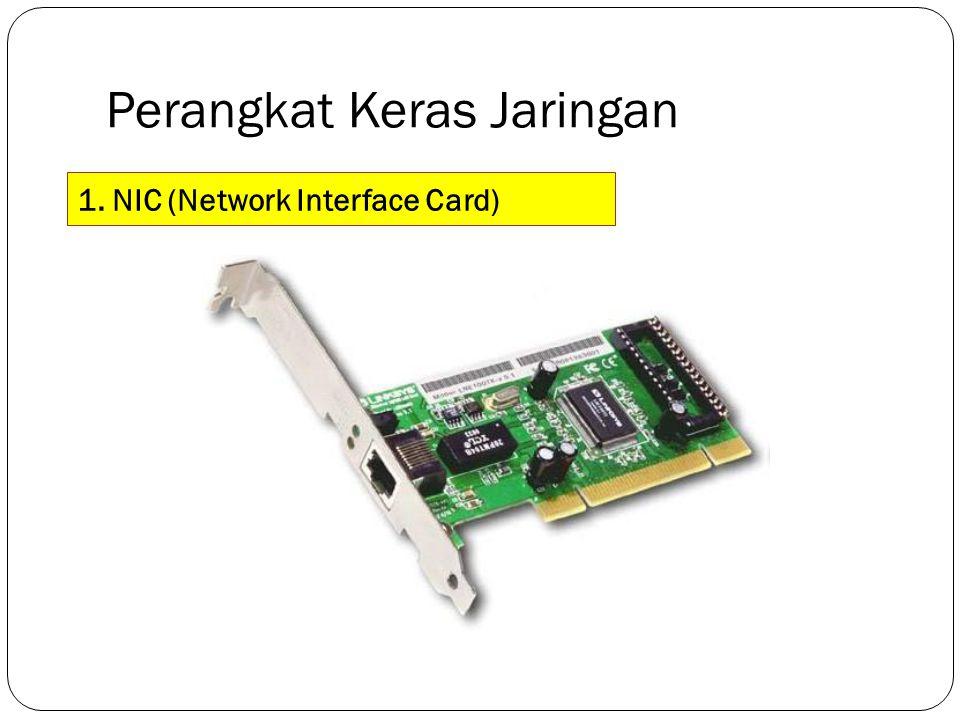 Perangkat Keras Jaringan 1. NIC (Network Interface Card)