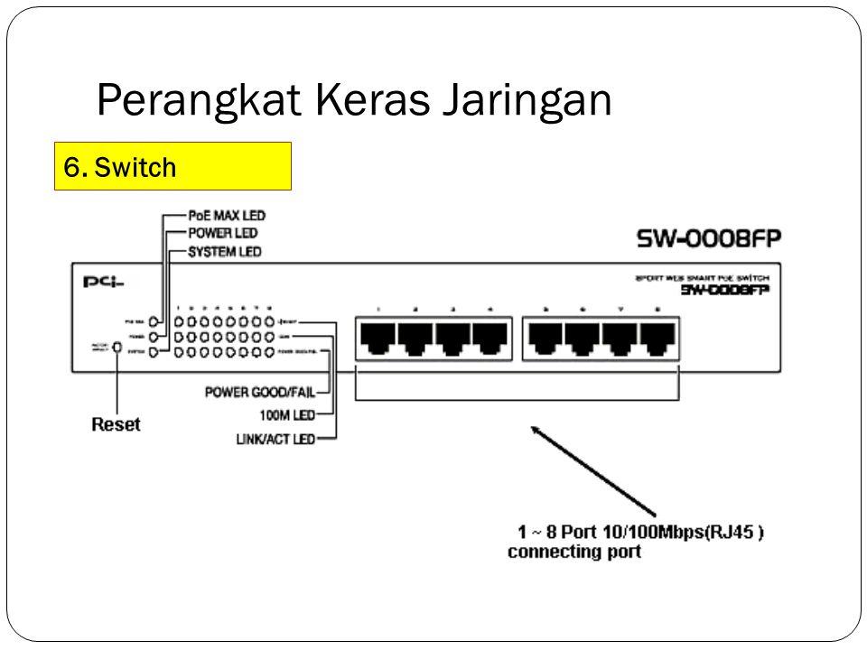 Perangkat Keras Jaringan 6. Switch