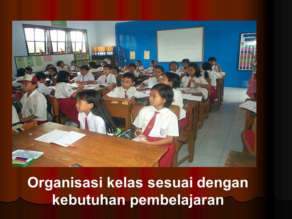 Organisasi kelas sesuai dengan kebutuhan pembelajaran
