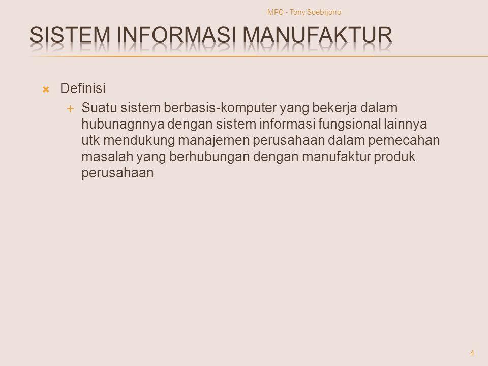  Definisi  Suatu sistem berbasis-komputer yang bekerja dalam hubunagnnya dengan sistem informasi fungsional lainnya utk mendukung manajemen perusaha