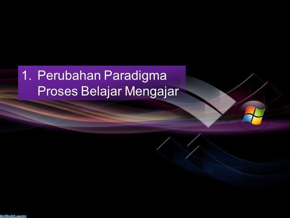 1.Perubahan Paradigma Proses Belajar Mengajar