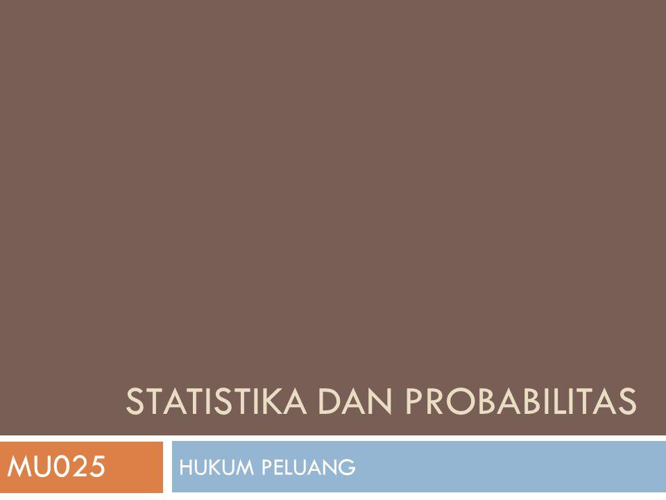 HUKUM PELUANG STATISTIKA DAN PROBABILITAS MU025
