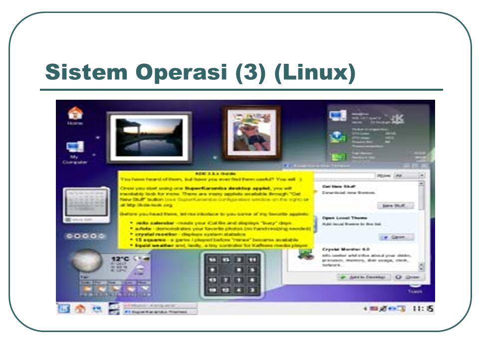 Utilitas • Utilitas adalah program-program yang dipergunakan untuk mengelola sumber daya sistem komputer.