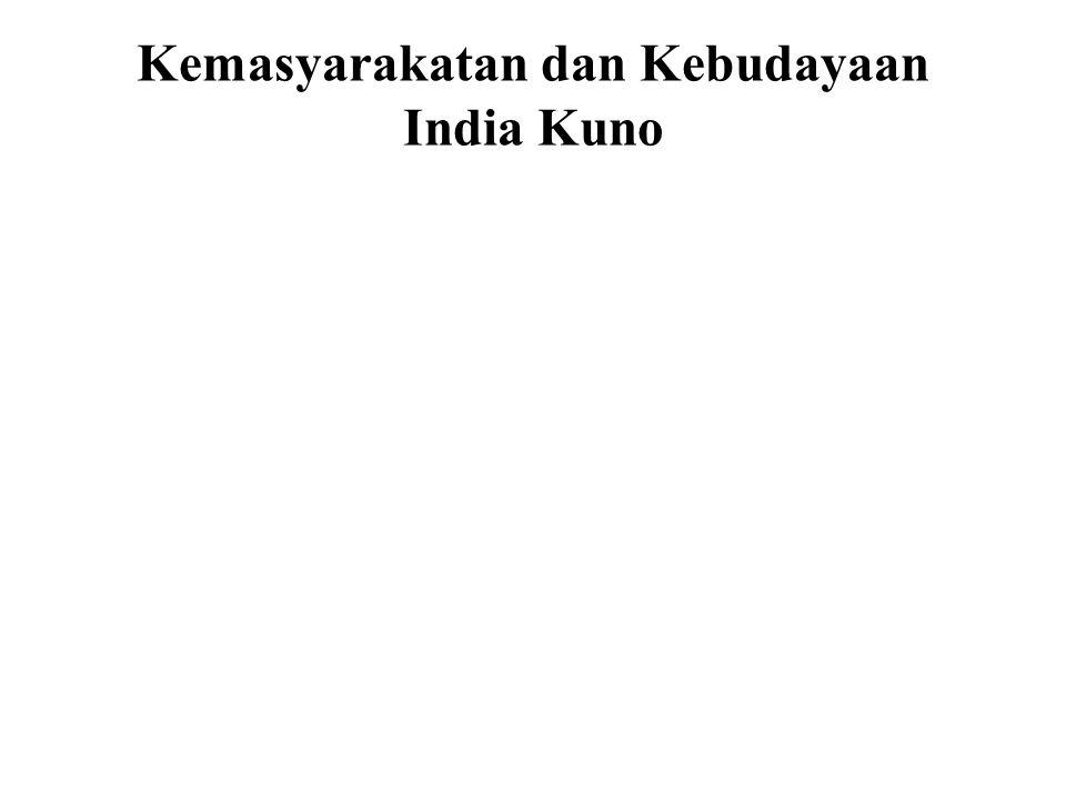 Kemasyarakatan dan Kebudayaan India Kuno Beberapa contoh dari ajaran-ajaran ini : • Tiada kebaikan dari tindakan bajik dan tiada keburukan dari tindakan jahat, sehingga tak ada tanggung jawab.