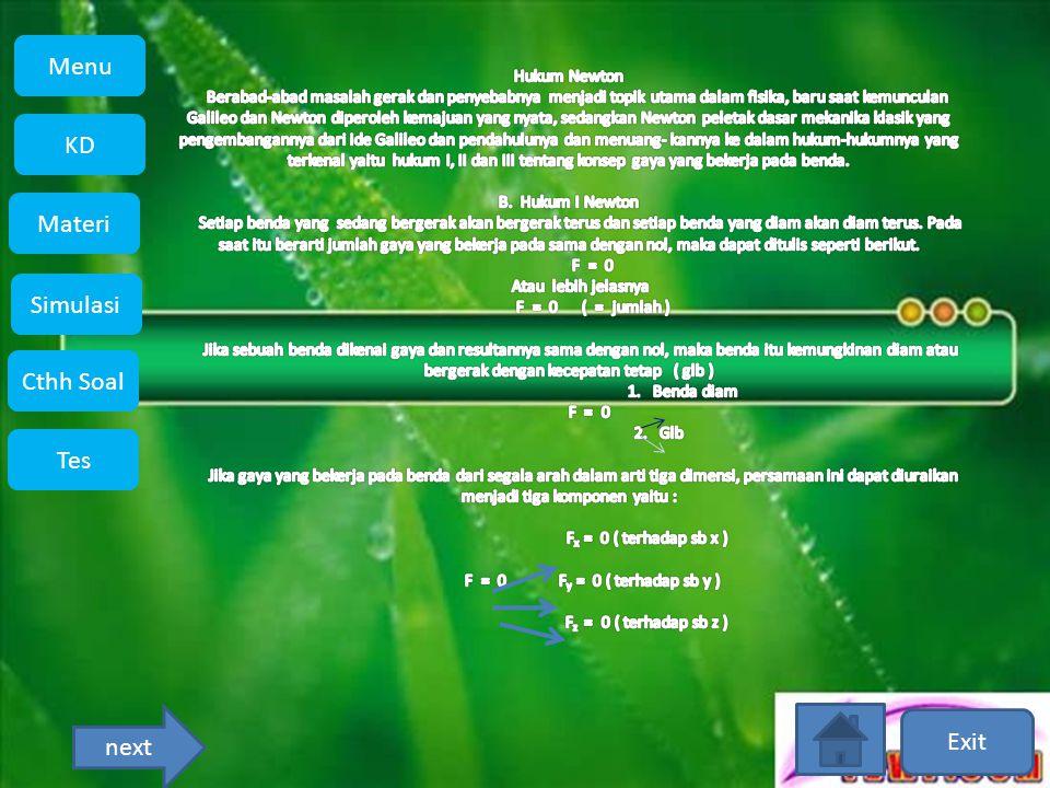 Exit Menu KD Simulasi Materi Tes Cthh Soal Menu next