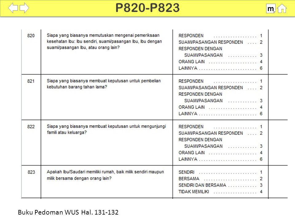 100% SDKI 2012 P820-P823 m Buku Pedoman WUS Hal. 131-132