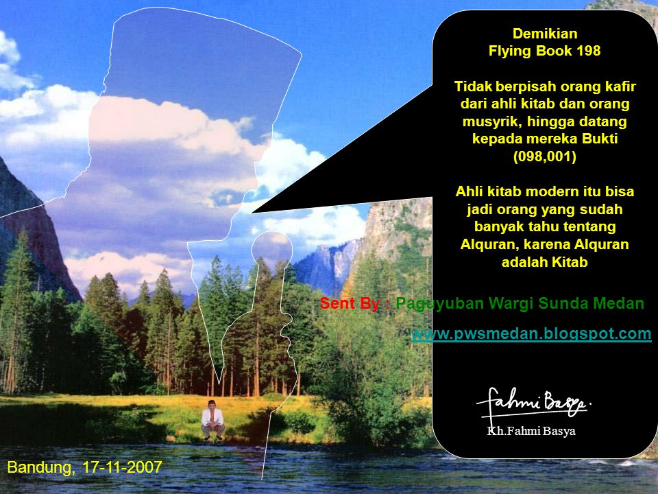 Demikian Flying Book 198 Tidak berpisah orang kafir dari ahli kitab dan orang musyrik, hingga datang kepada mereka Bukti (098,001) Ahli kitab modern i