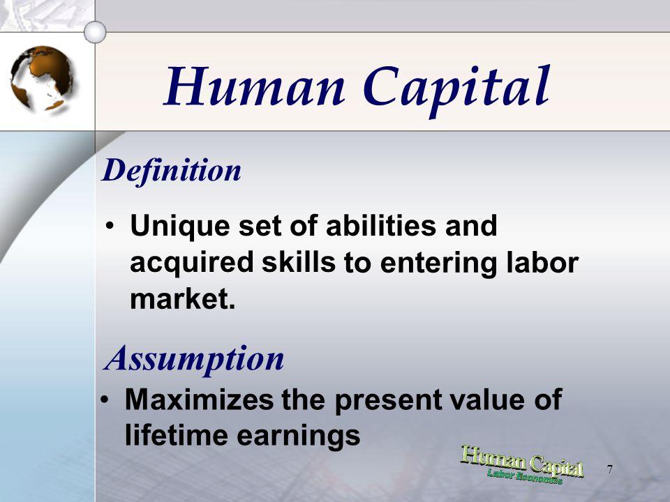 27 Present Value of Age-Earning Profile Contoh : •Asumsi : worker hanya bekerja selama 2 tahun •Earning lulusan SMU : Rp 100.000