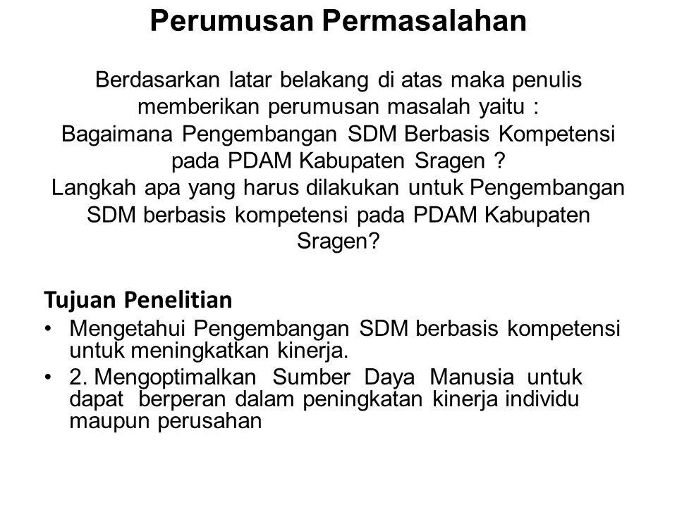 FENOMENA PERMASALAHAN •Kepegawaian •Pegawai PDAM Kabupaten Sragen terdiri atas Pegawai Daerah yang diperbantukan dan pegawai tetap perusahaan serta pegawai kontrak berjumlah 168 pegawai dengan perincian sebagai berikut : •a).