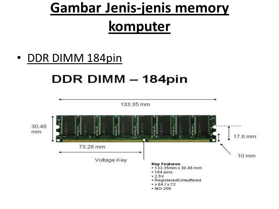 Gambar Jenis-jenis memory komputer • DDR DIMM 184pin