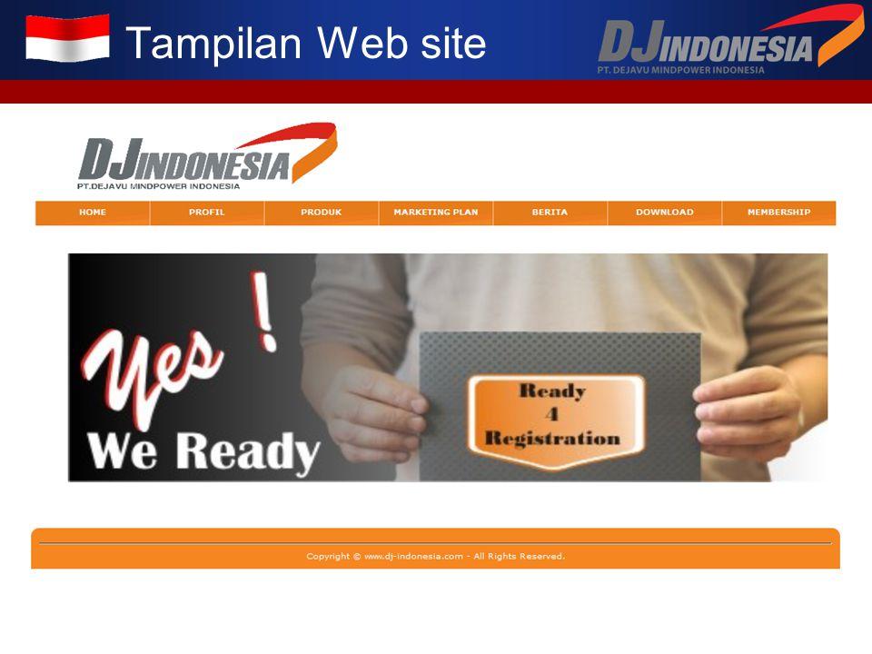 Tampilan Web site