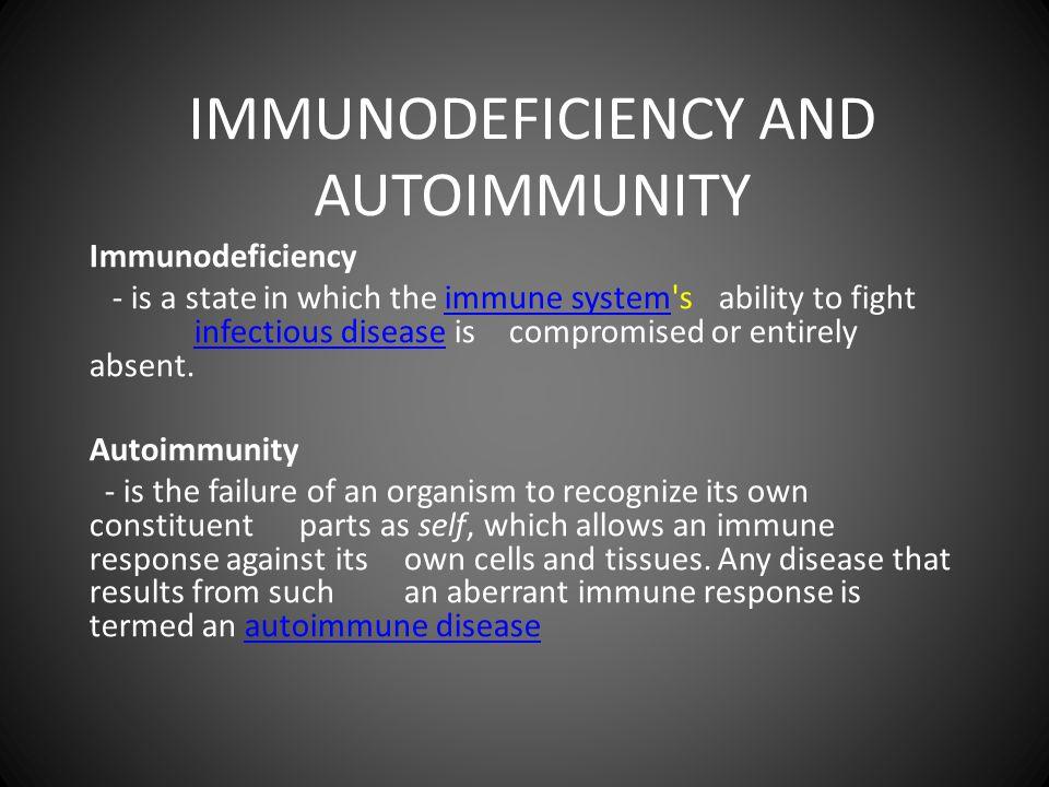 IMMUNODEFICIENCY • Primary immunodeficiency (PID) – CVID (common variable immunodeficiency ) – Severe combined immunodefisiesnsi disease (SCID) • Acquired immunodeficiency – AIDS • HIV