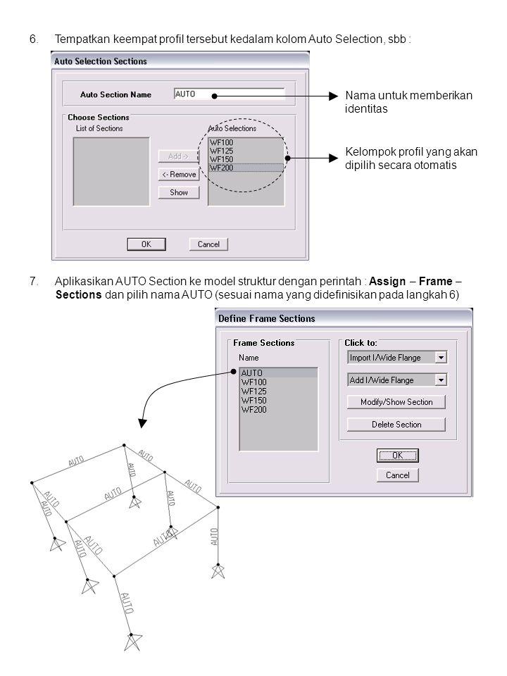 8.Definisikan pengaruh Balok Sekunder sebagai pertambatan lateral pada balok atap searah sumbu Y.