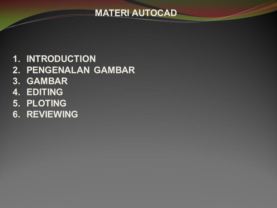 MEMULAI MENGGAMBAR AUTO CAD