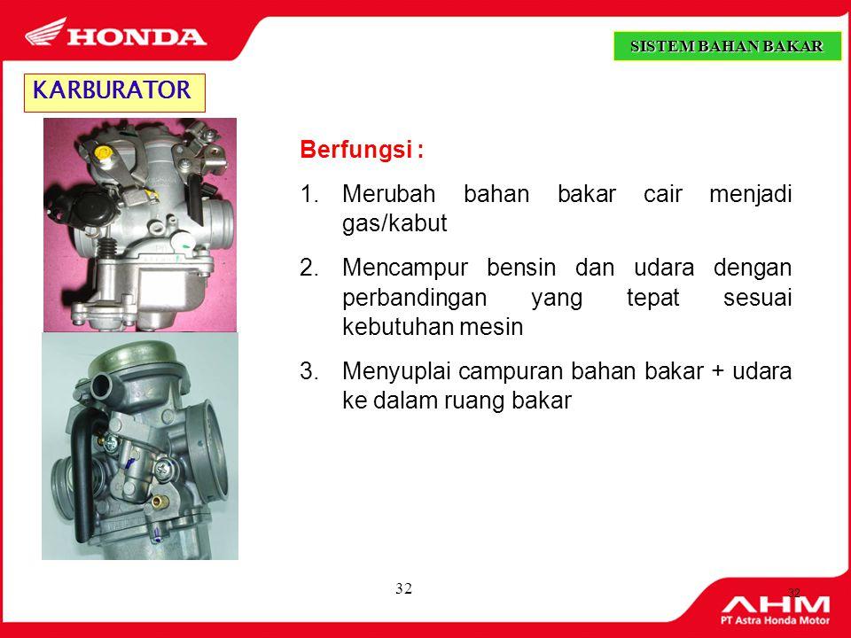 31 1.Saringan udara jenis busa (Urethane) Jenis Saringan Udara (Air Cleaner) 2.
