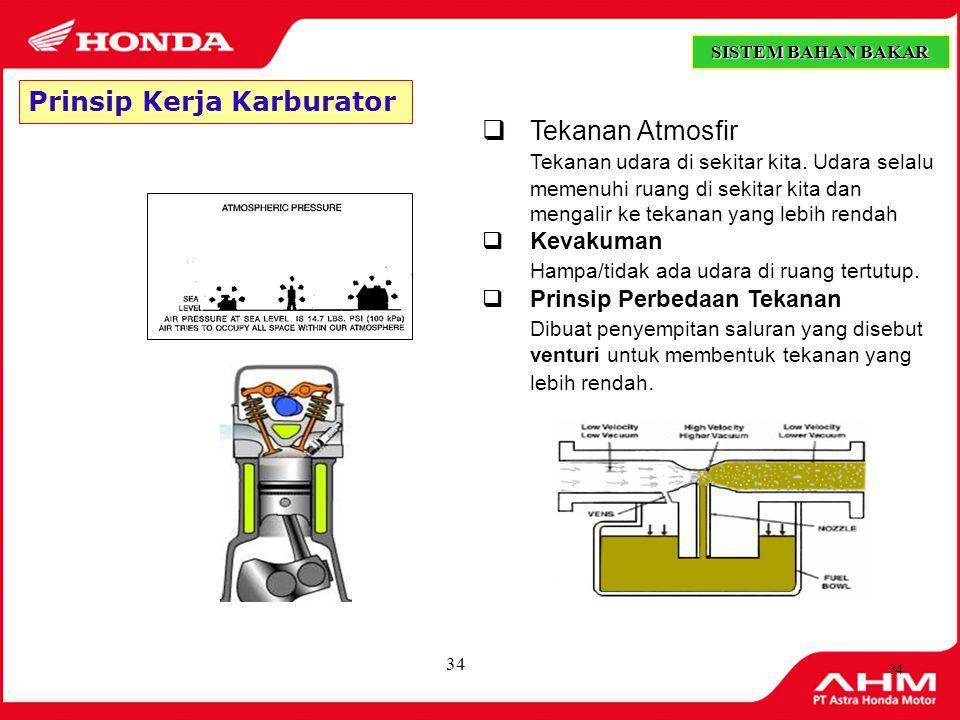 33  Kebutuhan campuran bensin dan udara pada mesin sangat bervariasi sesuai temperatur, beban dan percepatan mesin.