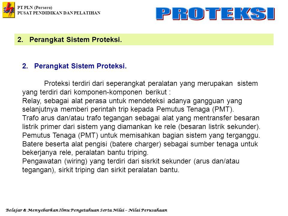 PT PLN (Persero) PUSAT PENDIDIKAN DAN PELATIHAN Belajar & Menyebarkan Ilmu Pengetahuan Serta Nilai – Nilai Perusahaan 1. Pengertian Rele Proteksi Rele