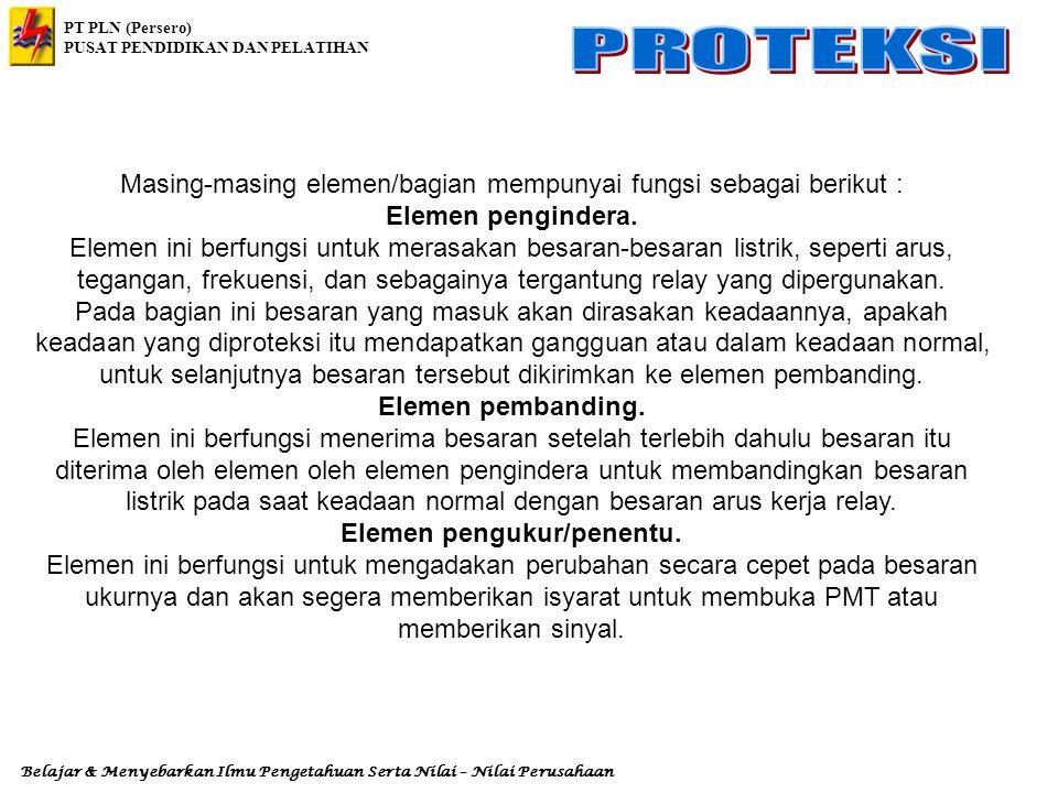 PT PLN (Persero) PUSAT PENDIDIKAN DAN PELATIHAN Belajar & Menyebarkan Ilmu Pengetahuan Serta Nilai – Nilai Perusahaan 9.5.3.