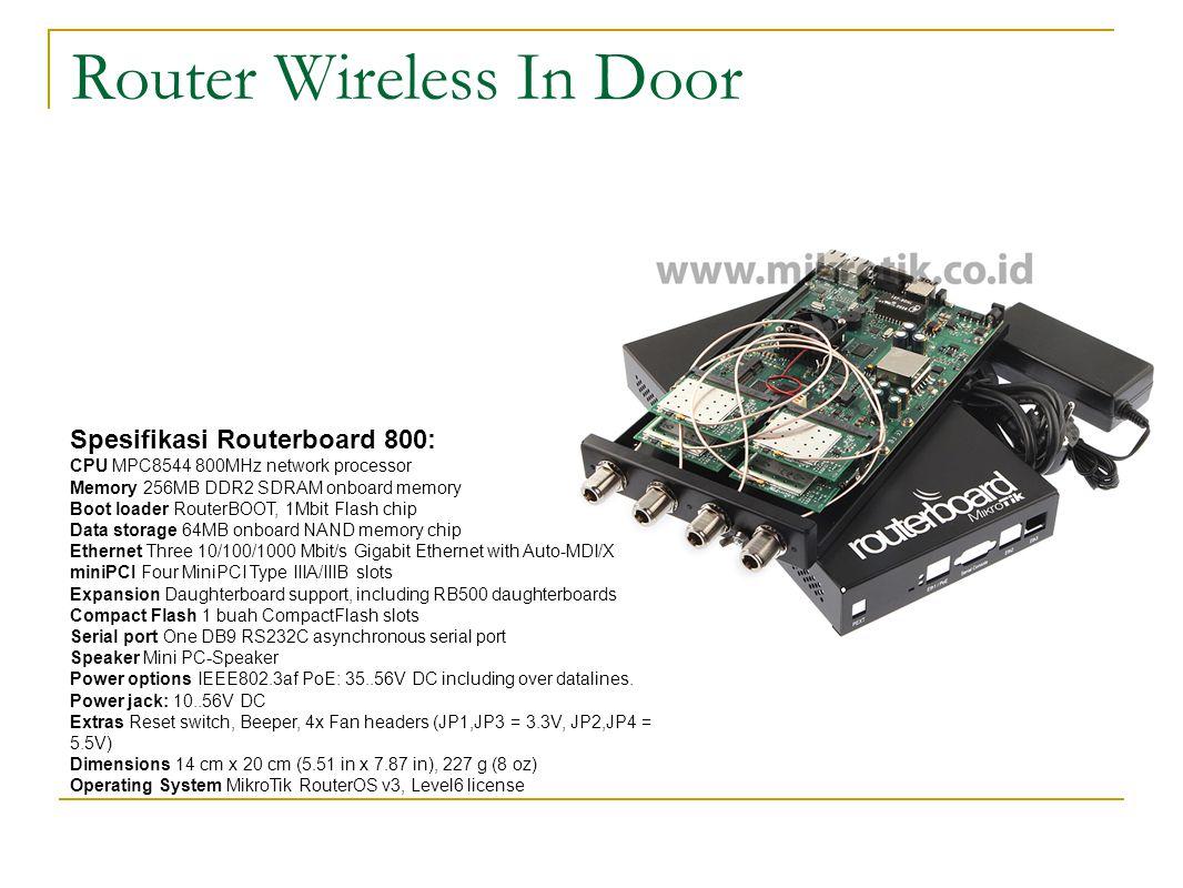 Konfigurasi Wireles  Klik Interface  Enablekan interface wlan1  Setup wireless menjadi ap-bridge dengan tipe wireless B/G dengan band 2.4 Ghz.