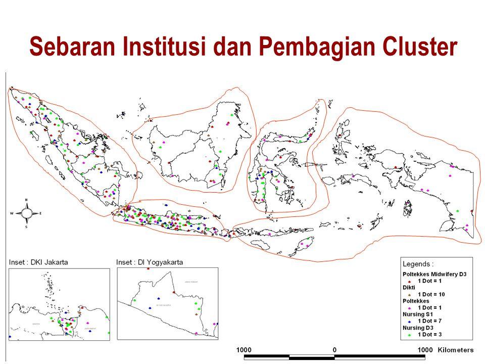 Sebaran Institusi dan Pembagian Cluster