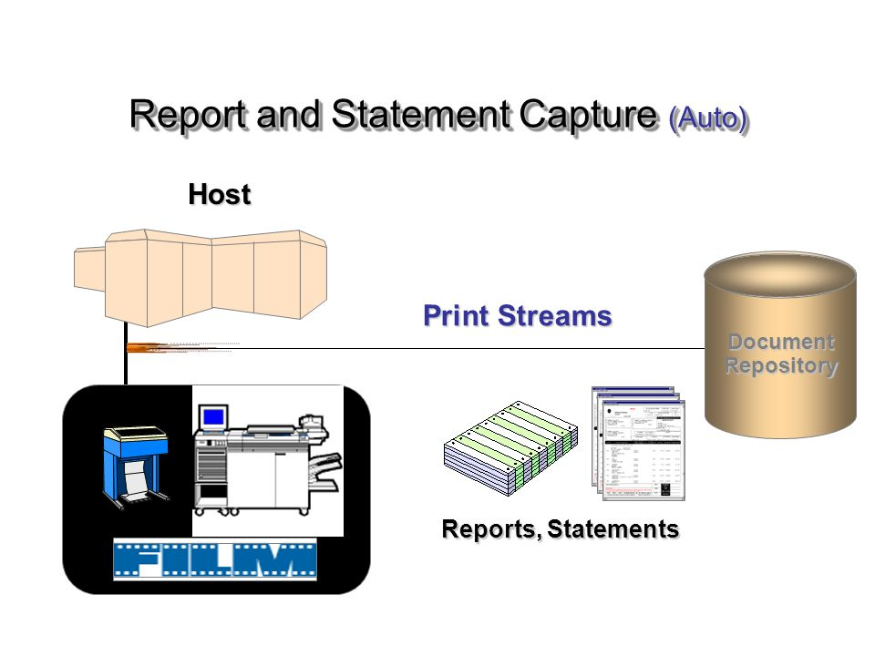 Reports, Statements Print Streams Document Repository Host Report and Statement Capture (Auto)