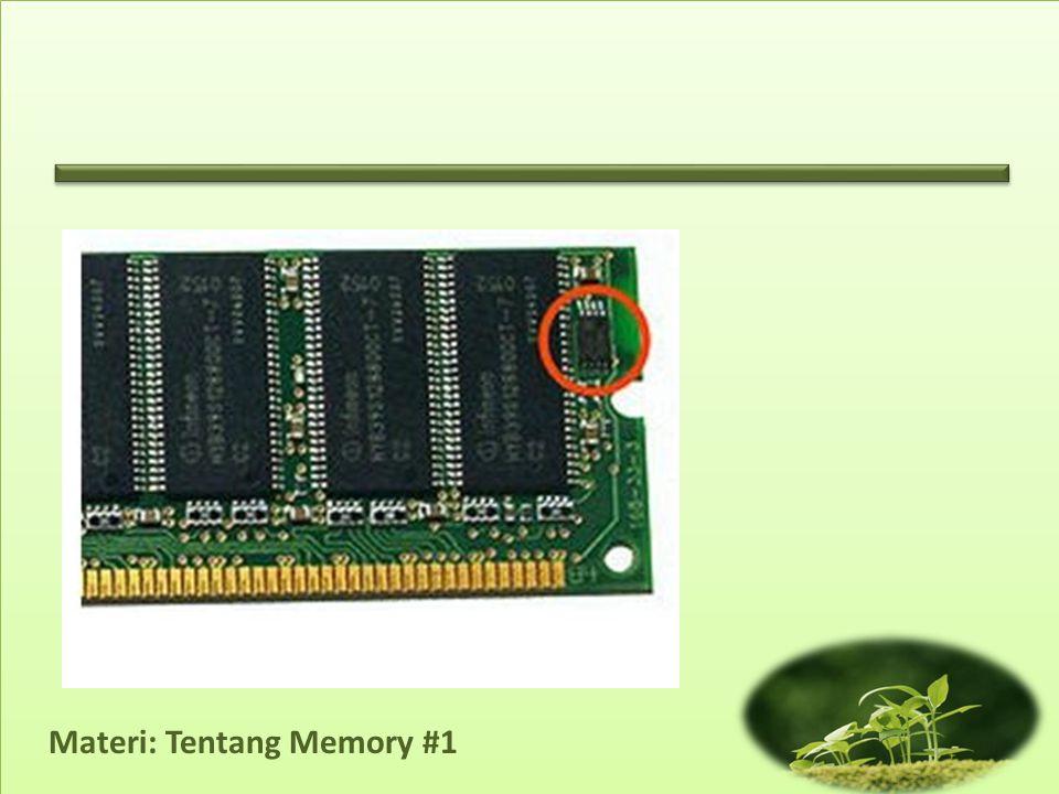 Materi: Tentang Memory #1 • Penggunaan opsi AUTO.