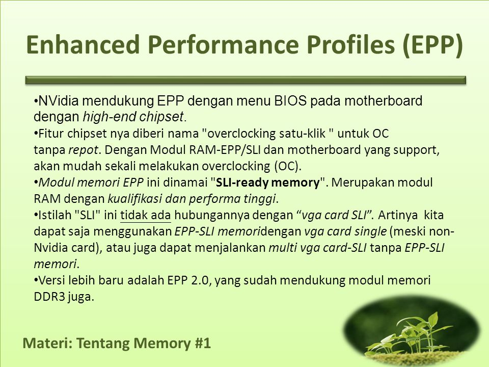 Materi: Tentang Memory #1 Cara Setting Manual 13.Setelah semua selesai, cubalah lakukan benchmark pada sistem Anda.