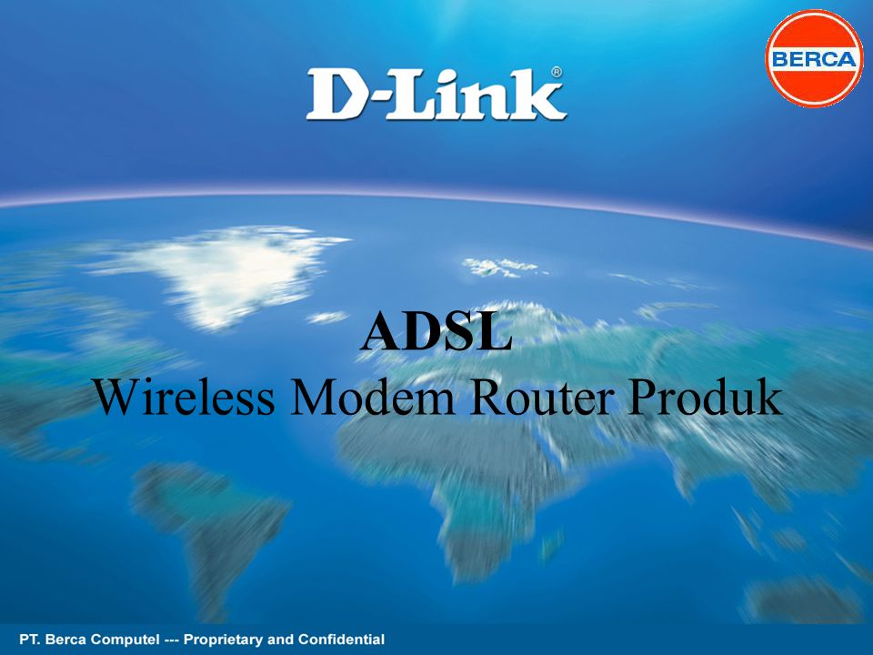 Page 1 of 62 ADSL Wireless Modem Router Produk