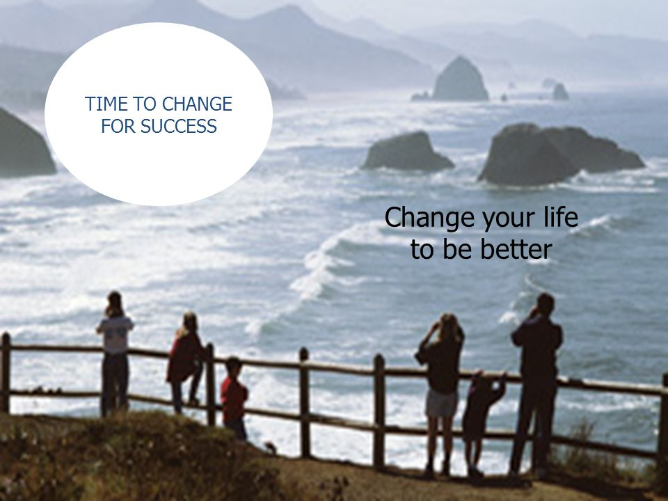 Change your life to be better TIME TO CHANGE FOR SUCCESS