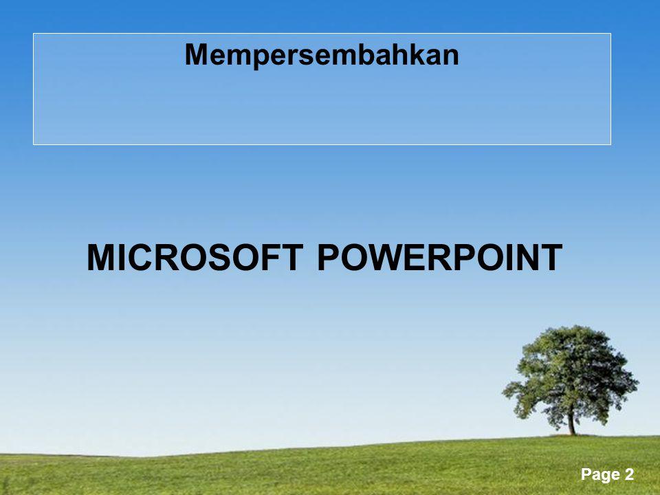 Powerpoint Templates Page 63 Gambar Toolbar menyediakan banyak perintah untuk membuat dan mengedit graphic.