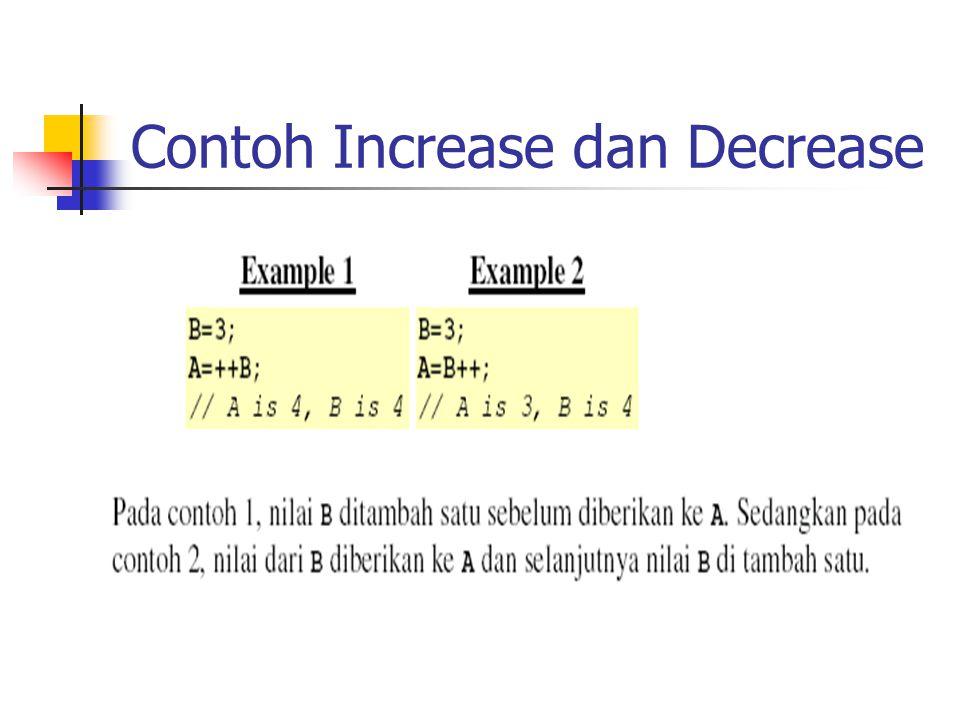 Contoh Increase dan Decrease