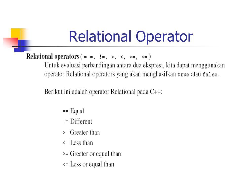 Relational Operator